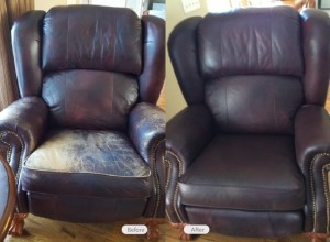 Leather Chair Restoration by Fibrenew Upstate
